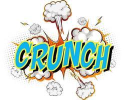 word crunch på komisk moln explosion bakgrund