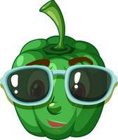 Paprika-Zeichentrickfigur mit Gesichtsausdruck vektor