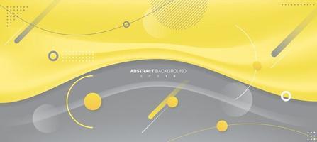 Farbe des Jahres 2021 welliger gelber Linienhintergrund. Vektor eps 10