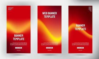 Satz von einfachen Farbfluss-Roll-up-Geschäftsbroschüren-Flyer-Bannern vektor