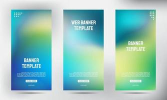 Satz von verschwommenen Roll-up-Geschäftsbroschüren-Flyer-Bannern vektor