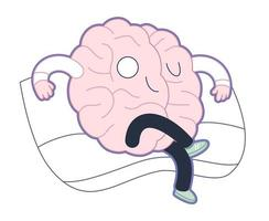 överhöghet, hjärnsamling vektor