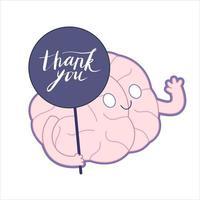 tack, hjärnsamling vektor