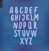 neon glödande alfabetet vektor