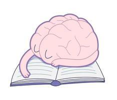 sovande hjärna, hjärnsamling vektor