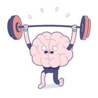 Trainieren Sie Ihr Gehirn, Gewichtheben vektor