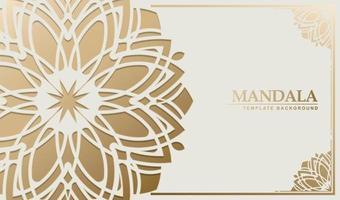 Luxus weiß Mandala Hintergrund Konzept vektor