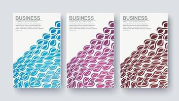 abstrakt färgglada minimal täcker mönster design set