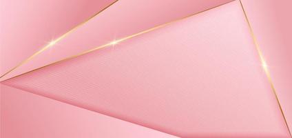 Goldene Linien des abstrakten rosa Entwurfsgeometrischen Hintergrunddekors mit Kopienraum für Text. Luxusstil. vektor