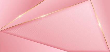 abstrakt rosa design geometrisk bakgrund inredning gyllene linjer med kopia utrymme för text. lyxig stil. vektor