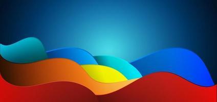 abstrakter orange roter blauer moderner Wellenhintergrund. vektor