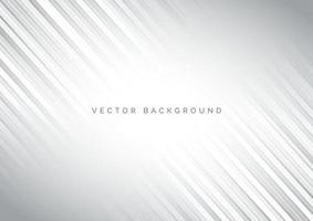 abstrakt vit och grå diagonal randlinjemönsterbakgrund. vektor