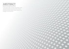 abstrakter geometrischer quadratischer Musterhintergrund mit weißer Formperspektive kann im Flyer der Cover-Design-Poster-Website verwendet werden. vektor