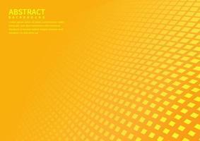 abstrakter geometrischer quadratischer Musterhintergrund mit orangefarbenen Formenperspektive kann im Flyer der Cover-Design-Poster-Website verwendet werden. vektor