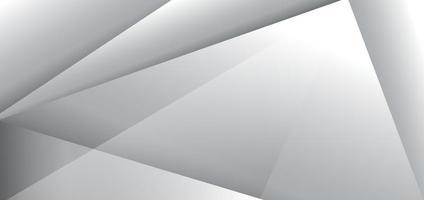 abstrakter moderner Entwurf weißer und grauer geometrischer Hintergrund. vektor