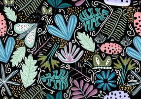 sömlös vintage mönster med dekorativa blommor. vektor