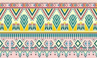 gestreifter nahtloser Musterhintergrund des Vintage-Boho-Modestils mit Stammesformelementen. handgemachte farbige Streifen hell Stammes. Ideal für Stoffdesign, Papierdruck und Webhintergrund vektor
