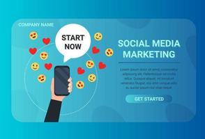 sociala medier marknadsföring banner vektor