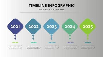 färgglad tidslinje infografisk mall vacker design vektor
