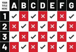 Checklisten-Planungstabellenentwurf durchführen vektor