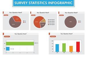 Infografik-Vorlage für Umfragestatistiken vektor