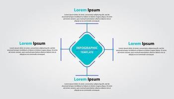 enkel infografisk mall. vektor infografisk design med fyra alternativ eller steg.