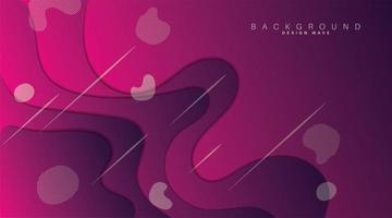 Wellenform mit violettem Farbverlauf. Papierschnitt Hintergrund. Vektor-Design-Illustration