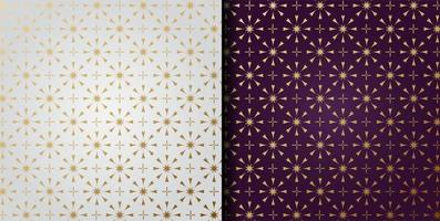 luxuriöses geometrisches Ornamentmusterset vektor