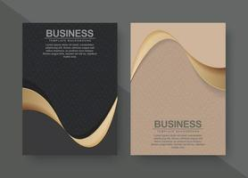 Premium-Cover-Menü-Design-Set vektor
