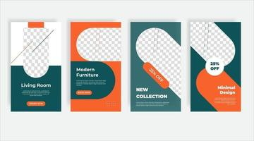 Innenarchitektur Social Media Post Vorlage Banner vektor