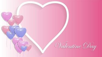 Vektordesign der Liebe und der Luftballons. Valentinstag Hintergrund vektor