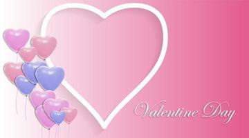 vektor design av kärlek och ballonger. Alla hjärtans dag bakgrund