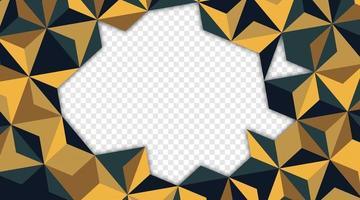 geometrischer abstrakter Hintergrund des Dreiecks. Vektordesign mit Dreiecksform. 3D-Illustration. leerer Raum für Text vektor
