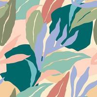 künstlerisches nahtloses Muster mit abstrakten Blättern. modernes Design.