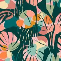 künstlerisches nahtloses Muster mit abstrakten Blättern. modernes Design vektor