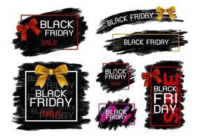 Schwarzer Freitag-Verkaufsfahnenentwurf auf weißer Hintergrundvektorillustration