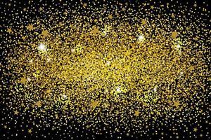 guld glitter bakgrund för jul och nyår vektor