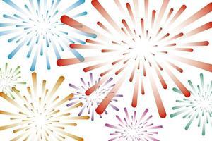 bunte Feuerwerkshintergrund-Vektorillustration