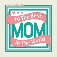 Glad mors dagkort vektor
