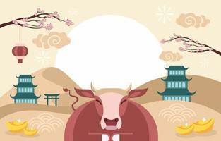 Gong XI Fa Cai Hintergrund für chinesisches Neujahr vektor