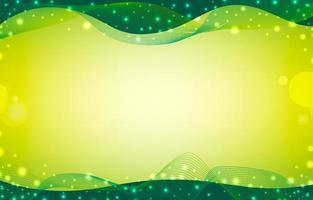 grüner abstrakter Hintergrund mit Wellenlinien vektor