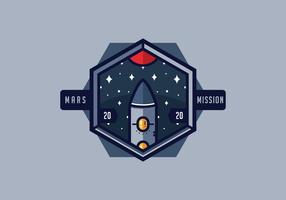 Mission Marsch Patch Vektor