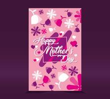 Glückliche Muttertagskarte vektor