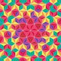 Färgrik Triangle Geometrisk Mönster Bakgrund