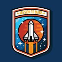 Mission zum Mars-Fleck vektor