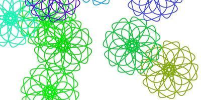 hellviolette, rosa Vektor-Gekritzel-Textur mit Blumen.