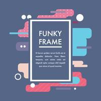 Super bunte mutige Funky Frames vektor