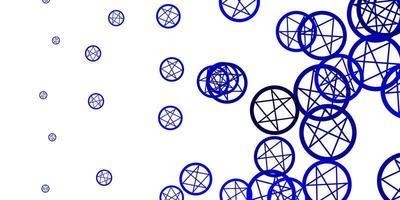 hellblaue Vektorbeschaffenheit mit Religionssymbolen. vektor