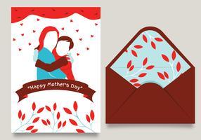 Glad mödrar dag kort vektor design