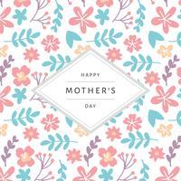 Karte für den Tag der Mutter mit einem gemusterten Hintergrund vektor